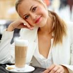 Business woman on break — Stock Photo