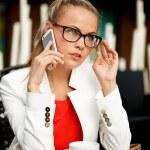 Business woman on a break — Stock Photo