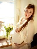 Smiling Pregnant Woman — Stock Photo