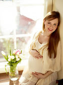 Happy Pregnant Woman — Stock Photo