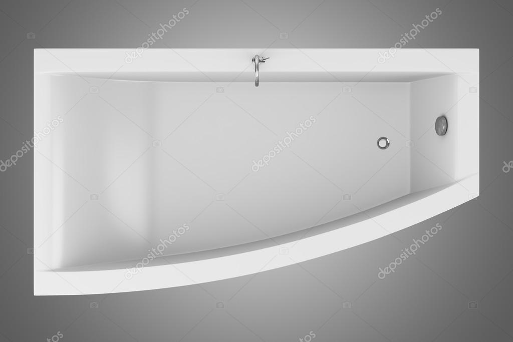 Vista dallalto della vasca da bagno moderno isolato su - Vasca da bagno grigia ...
