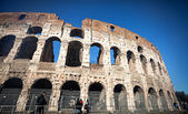ROME, ITALY - JANUARY 1: Colosseum, one of the most famous landm — Stock Photo