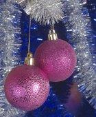 Festive Christmas-tree decorations — Stock Photo