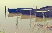 Barche sul lago — Foto Stock