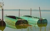 Barcos no lago — Fotografia Stock