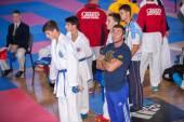 Participants of  karate  tournament — Stock Photo