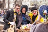 Participants of   festival Humorina, Odessa — Stock Photo