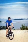 Moto en montagne — Photo