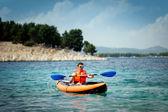 Kayak on the sea — Stock Photo