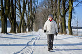 Nordic walking — Stock Photo