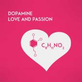 Love chemistry passion concept. Dopamine. Vector — Stock Vector