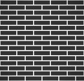 Black brick wall seamless pattern. Vector — Stock Vector