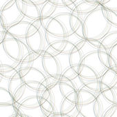Gray overlapping  circles seamless pattern. Light circles simple background. Vector — Stock Vector