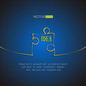 Single puzzle icon background. Idea concept. Vector illustration — Stock Vector