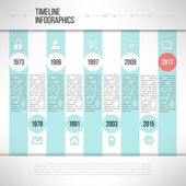 Timeline template infographic made in modern flat design suitable for business presentations, reports, statistic layout. Vector illustration — Stock Vector