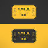 Entry ticket in stylish vintage style. Admit one cinema, theater, zoo, festival, carnival, concert, circus event. Pass icon for online tickets booking. Vector illustration — Stock Vector