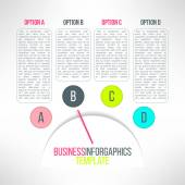 Business process steps infographic elements — Stock Vector