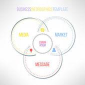 Circles infographics template. — Stock Vector