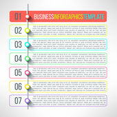 Process steps infographics template — Stock Vector