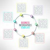 Vector circle process infographics template — Stock Vector
