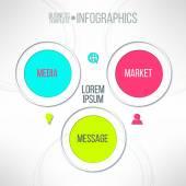 Media market message — Stock Vector