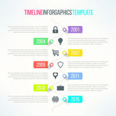 Vector bright timeline template — Stock Vector