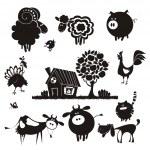 Farm animals. — Stock Vector #61385669
