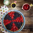 Berry tart with strawberries and blueberries — Stock Photo #73182981
