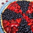 Berry tart with strawberries and blueberries — Stock Photo #73183579