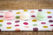 French macarons, mix colors — Stock Photo