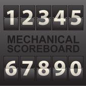 Mechanical scoreboard — Stock Vector