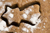 Christmas baking - gingerbreads — Stock Photo
