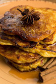 Pumpkin Fritters with cinnamon — Stock Photo