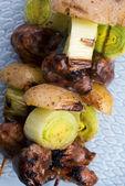 Grilled kebab (shashlik) — Stock Photo