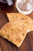 Italian focaccia bread with rosemary — Stock Photo