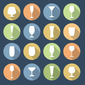 Drink glasses icons set. — Stock Vector