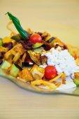 Tasty vegetarian salad — Stock Photo