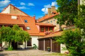Yard in the old town of Vilnius — Stock Photo
