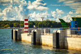 Lighthouse in the port of Klaipeda — Stock Photo