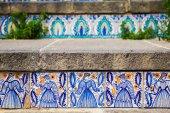 Ceramic tiles on the steps — Stock Photo