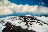View from volcano Etna in spring — Stock Photo