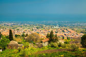 Little town near Etna — Stock Photo
