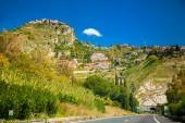 Castelmola and surroundings of Taormina — Stock Photo