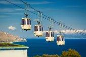 Funicular at Taormina, Sicily — Stock Photo