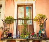 西西里人阳台 — 图库照片
