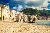 Old beach of Cefalu, Sicily — Stock Photo