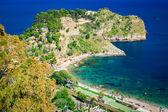 Left side of the beach named Isola Bella — Fotografia Stock