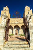 Main entrance to the Cathedral of Cefalu — Stock Photo