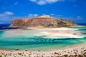 Amazing view of Balos lagoon — Stock Photo