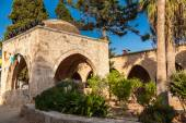 Fountain in courtyard of Ayia Napa Monastery — Stock Photo